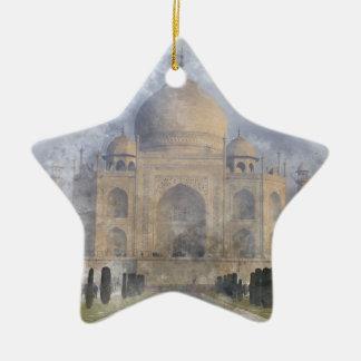 Taj Mahal in Agra Indien Keramik Stern-Ornament
