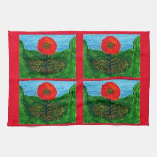 Tal des Blumen-Küchen-Tuches Handtücher