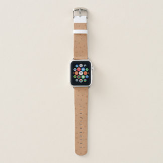 TAN-Strauß-Fell-Blick-Apple-Uhrenarmband Apple Watch Armband