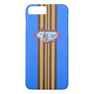 Tandem, das hawaiisches Imitat-Holz-Surfbrett iPhone 8 Plus/7 Plus Hülle