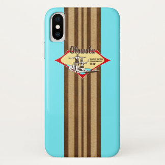 Tandem, das hawaiisches Imitat-hölzernes iPhone X Hülle