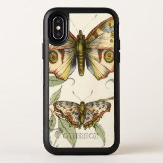 Tandemschmetterlinge über grünem Blätter OtterBox Symmetry iPhone X Hülle