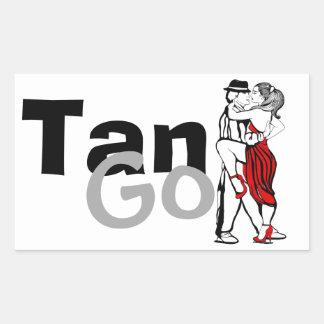 Tango-Aufkleber Rechteckiger Aufkleber
