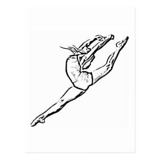 Tanz 3 postkarte