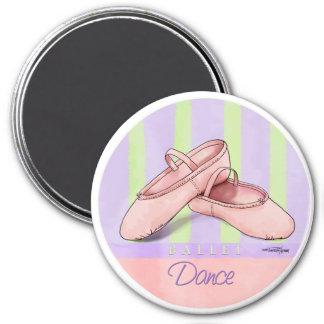 Tanz - Ballett-Pantoffelmagnet Runder Magnet 7,6 Cm