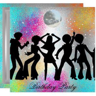 Tanz-Disco-Geburtstags-Party psychodelic Karte