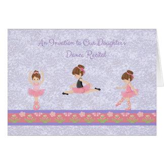 Tanz-Erwägungsgrunden-Einladung mit Karte