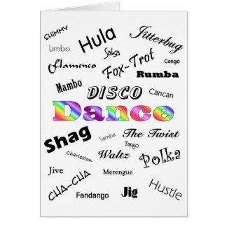 Tanz-Karte Karte