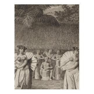Tanz, Otaheite, Tahiti Postkarte