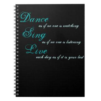 Tanz singen Live… Spiral Notizblock