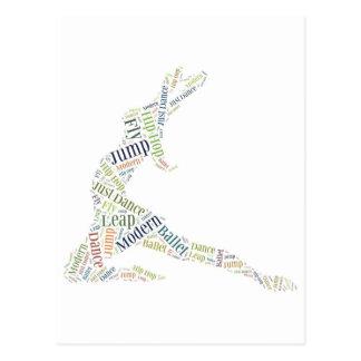 Tanz-Wort-Wolke Postkarte