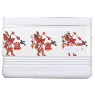 Tanzen aztekischer Shaman-Krieger Kühlbox