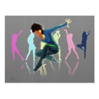 Tanzen für Freude-Kunst Postkarte