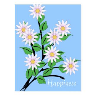 Tanzen-Gänseblümchen-Blumen-Glück Postkarte