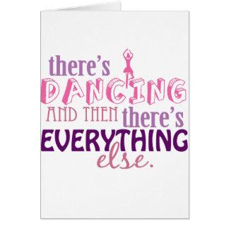 Tanzen ist alles karte