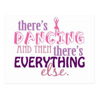 Tanzen ist alles postkarte