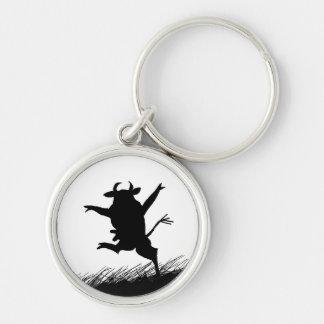 Tanzen-Kuh Keychain Schlüsselanhänger