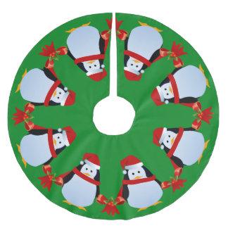 Tanzen-Pinguine Polyester Weihnachtsbaumdecke