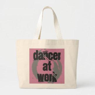 Tänzer bei der Arbeit weiß/Rosa/graue riesige Jumbo Stoffbeutel
