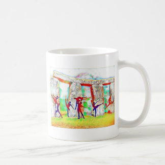 Tänzer bei Stonehenge Tasse