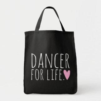 Tänzer für Leben-Schwarzes mit Herzen Einkaufstasche