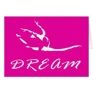 Tänzer oder Gymnast im Rosa Karte