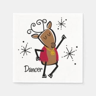 Tänzer-Ren Papierservietten