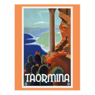 Taormina Italien Vintage Reise Europa Postkarten