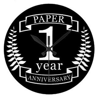 Tapezieren Sie den 1. 1-jährigen Hochzeitstag Wanduhren
