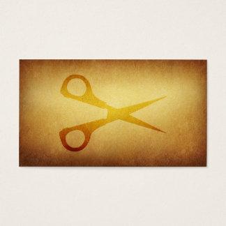 Tapezierte Archiv-Friseur-Haarschnitt-Visitenkarte Visitenkarten