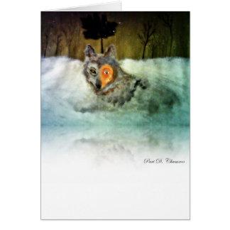 Tapfere Wolf-Gruß-Karte Grußkarte