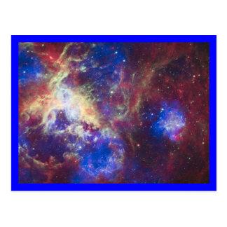 Tarantula-Nebelfleck-Blau-Grenze Postkarte
