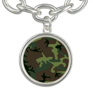 Tarnungs-Camouflage-Grün-Brown-Muster Armbänder