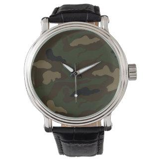 Tarnungs-Musterarmee t des Militärsoldaten Armbanduhr