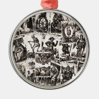 Tarot kardiert Muster Rundes Silberfarbenes Ornament