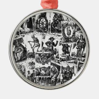 Tarot kardiert Muster Silbernes Ornament