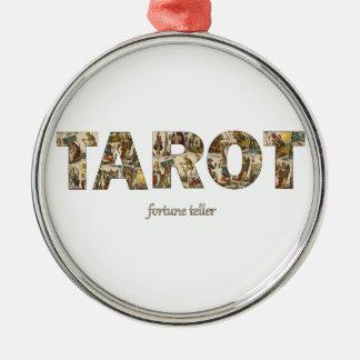 Tarot-Vermögens-Erzähler Rundes Silberfarbenes Ornament