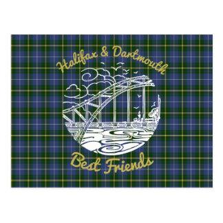 Tartan Postkarte bester Freunde Halifaxes