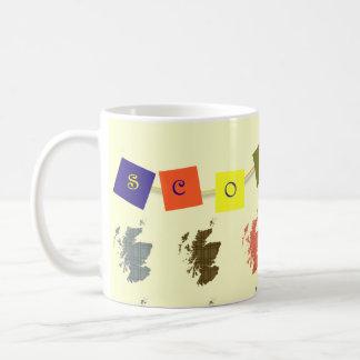 Tartan-Schottland-Karten-Flaggen-Tasse Tasse