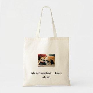 tasche,einkaufstasche,beutel,hund,englische bully budget stoffbeutel