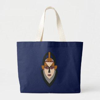 Tasche mit einer afrikanischen Maske auf der Front
