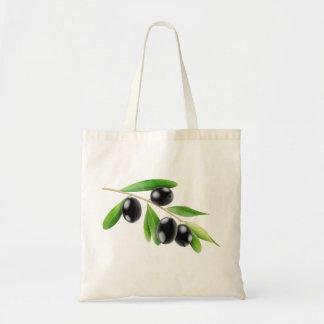 Tasche mit Niederlassung der schwarzen Oliven