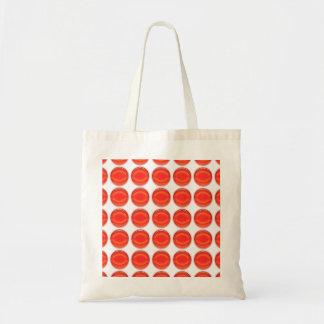 Tasche - rote Punkte Budget Stoffbeutel