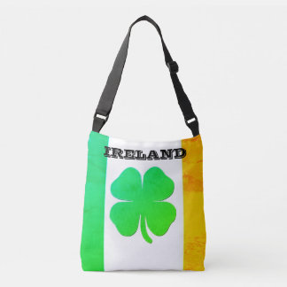 Taschen-Tasche mit irischer Flagge und Kleeblatt Tragetaschen Mit Langen Trägern