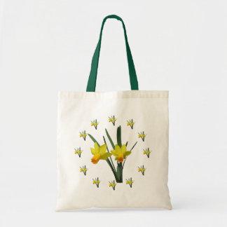 Taschen-Tasche - Narzissen-Blüten Budget Stoffbeutel