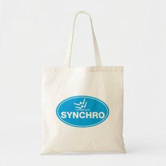 TASCHEN-TASCHE synchronisierte Schwimmen - Ikone Budget Stoffbeutel
