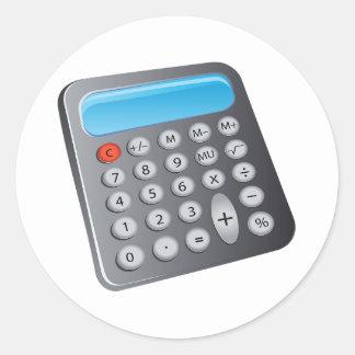 Taschenrechner Runder Aufkleber