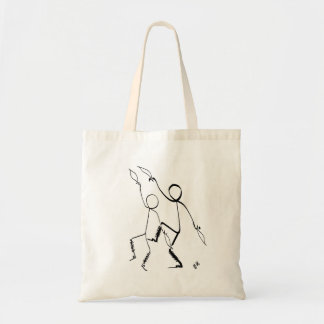 Taschentasche mit zwei Morris Tänzern Tragetasche