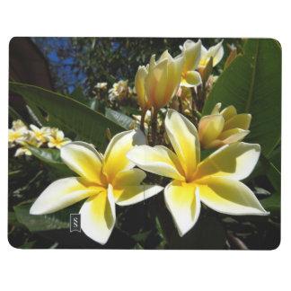 Taschenzeitschrift - Plumeriablüte Notizbuch