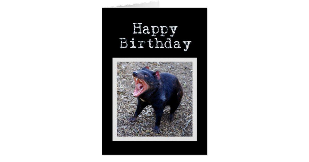 Tasmanischer Teufel-alles Gute zum Geburtstag Karte | Zazzle.at